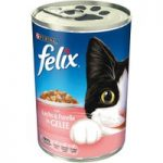 Felix Cat Food Cans Saver Pack 24 x 400g – Salmon & Trout in Jelly