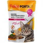 Feline Porta 21 Pouches Saver Pack 12 x 100g – Whole Tuna with Surimi