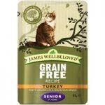James Wellbeloved Senior Cat Pouches – Turkey – 12 x 85g