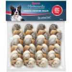 Rocco Smoked Rawhide Plaited Chews – Saver Pack: 12 Plaited Chew Sticks (approx. 17cm each) – smoked